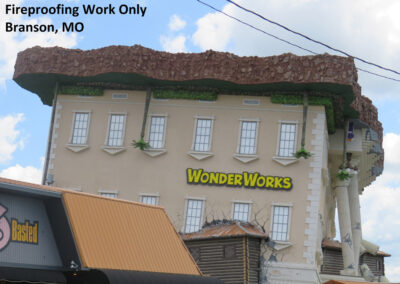 Fireproofing work only on Wonder Works